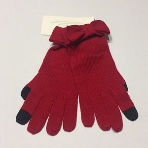 Kate Spade Tech Friendly Bow Gloves O/S